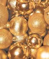 Feest kerst servetten gouden kerstballen
