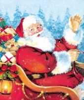 Feest kerst servetten kerstman thema