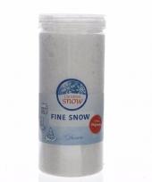 Feest kerst thema fijne nep sneeuw in pot 50 gram