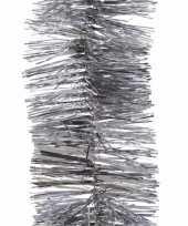 Feest kerst zilveren folieslinger christmas silver 270 cm