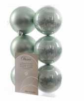 Feest kerstboom decoratie kerstballen mix mint 12 stuks