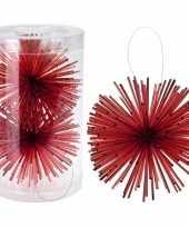 Feest kerstboom decoratie kerstbol classic red 11 cm