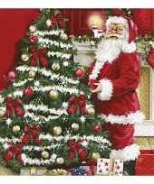 Feest kerstdiner servetten 20 stuks