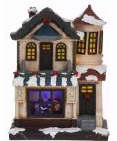 Feest kerstdorp maken kersthuisje met led licht type 2