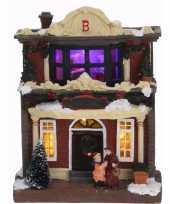 Feest kerstdorp maken kersthuisje met led licht type 3