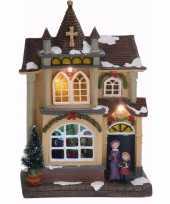 Feest kerstdorp maken kersthuisje met led licht type 4