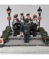 Feest kersthuisje accessoire leger des heils koor met verlichting