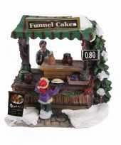Feest kersthuisje cake en taartjes kraam
