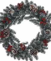 Feest kerstkrans dennentakjes 60 cm