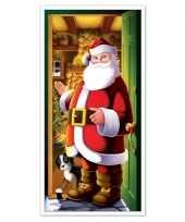 Feest kerstman deurposter 152 cm