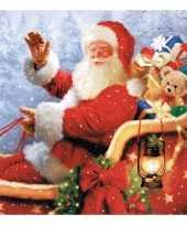 Feest kerstman servetten