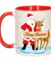 Feest kerstmok rudolph en santa 300 ml