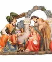 Feest kerststal beeldje heilige familie 17 x 15 cm