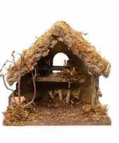 Feest kerststal zonder figuren 30 cm