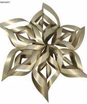 Feest kerstster knutsel set goud