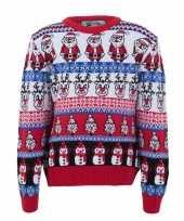 Feest kersttrui voor volwassenen met foute nordic print