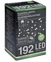 Feest kerstverlicht cluster warm wit 192 led