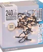 Feest kerstverlichting afstandsbediening warm wit buiten 240 lampjes