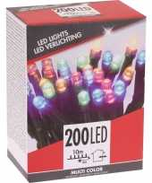 Feest kerstverlichting budget gekleurd buiten 200 lampjes