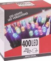 Feest kerstverlichting budget gekleurd buiten 400 lampjes
