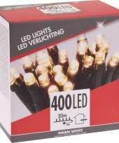 Feest kerstverlichting budget warm wit buiten 400 lampjes