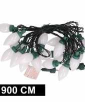Feest kerstverlichting kaarsjes warm wit buiten 900 cm lichtsnoer