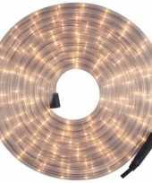 Feest kerstverlichting lichtslang lichtsnoer wit 9 meter voor buiten