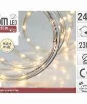 Feest kerstverlichting lichtslang warm wit buiten 6 meter