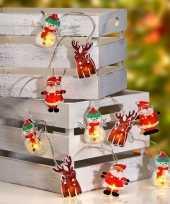 Feest kerstverlichting lichtsnoeren kerstfiguren op batterij met 10 lampjes