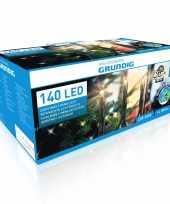Feest kerstverlichting warm wit buiten lichtsnoeren 140 led lampjes