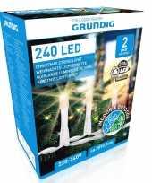 Feest kerstverlichting warm wit buiten lichtsnoeren 240 led lampjes