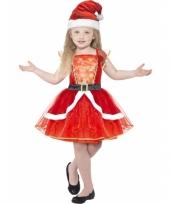 Feest kinder kerstjurkje met verlichting