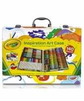 Feest kinder kleurtjes set in koffer 150 delig