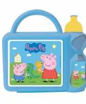 Feest kinder lunch set peppa big blauw
