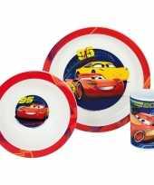 Feest kinder ontbijt set cars