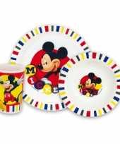 Feest kinder ontbijt set mickey mouse