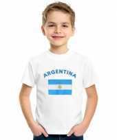 Feest kinder shirts met vlag van argentinie