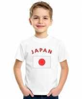 Feest kinder shirts met vlag van japan