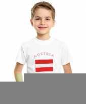 Feest kinder shirts met vlag van oostenrijk