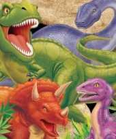Feest kinder verjaardag dinosaurus servetten 16 stuks