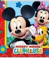 Feest kinder verjaardag servetten mickey mouse 20 stuks