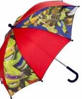 Feest kinderparaplu ninja turtles rood 45 cm