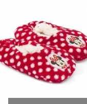 Feest kinderslofjes disney minnie mouse rood