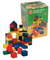 Feest kinderspeelgoed houten blokken 75x