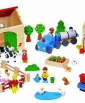 Feest kinderspeelgoed houten boerderij