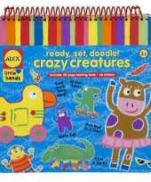 Feest kleurplaten boek met stickers