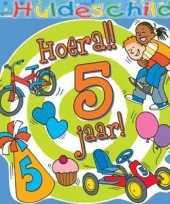 Feest kleurrijk huldebord 5 jaar