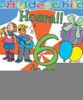 Feest kleurrijk huldebord 6 jaar