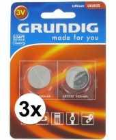 Feest knoopcel batterij 6 stuks cr2032