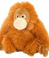 Feest knuffeldiertje orang oetan pluche oranje 20 cm